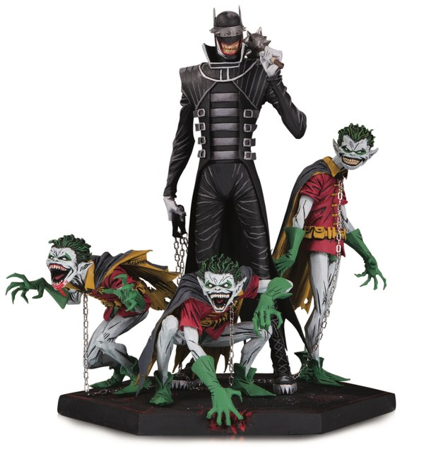 DC Comics Metal Batman Who Laughs & Robin Minions Deluxe Statue
